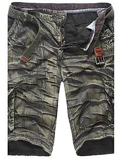 billige Herrebukser og -shorts-Herre Bomull Rett Shorts Bukser Ruter