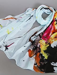 Naiset Sievä Vapaa-aika Neliskulmainen,Painettu Kevät Kesä Syksy Sifonki