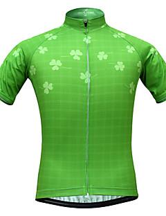 billige Sykkelklær-JESOCYCLING Dame Kortermet Sykkeljersey - Grønn Sykkel Jersey, Fort Tørring, Ultraviolet Motstandsdyktig, Pustende / Elastisk / Svettereduserende