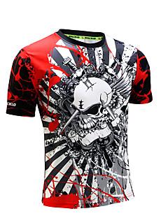 男性用 ランニングTシャツ 半袖 速乾性 人間工学デザイン 抗紫外線 高通気性 (>15,001g) 高通気性 モイスチャーコントロール Tシャツ トレーナー トップス のために エクササイズ&フィットネス レーシング バドミントン サイクリング / バイク ランニング