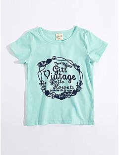 T-Shirt Lässig/Alltäglich Geometrisch Baumwolle Sommer Kurzarm