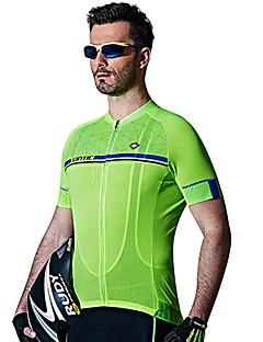 SANTIC Pyöräily jersey Miesten Lyhythihainen Pyörä Jersey Nopea kuivuminen Hengittävä Hikeä siirtävä 100% polyesteri Yhtenäinen Kevät