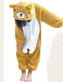 Kigurumi Pyjamas Bjørn Kostume Brun Kigurumi Trikot / Heldraktskostymer Cosplay Festival / høytid Pysjamas med dyremotiv Halloween Lapper