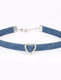 Kadın's Gerdanlıklar Kristal Kumaş Eşsiz Tasarım Kişiselleştirilmiş Açık Mavi Mücevher Için Doğumgünü Nişan Günlük Spor 1pc