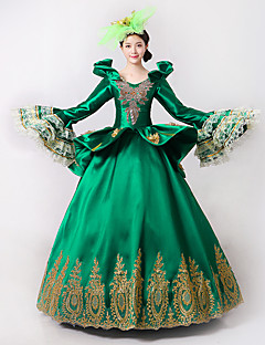 Prinsesse Gudinne Nisse drakter Cosplay Kostumer Kvinnelig Halloween Jul Karneval Nytt År Festival/høytid Halloween-kostymer Grønn Trykt
