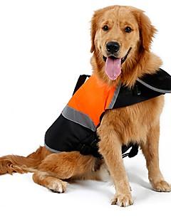 billiga Hundkläder-Katt Hund Regnjacka Väst Livväst Hundkläder Enfärgad Orange Grön Cotton Terylen Kostym För husdjur Herr Dam Gulligt Sport