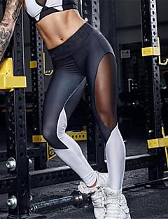 baratos Leggings para Mulheres-Mulheres Esportivo Com Rasgos Legging - Retalhos Cintura Média