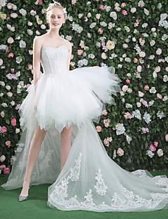プリンセス ハートカット アシメントリー レース チュール ウェディングドレス とともに ビーズ スパンコール レース 〜によって QZ