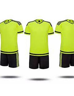 baratos Futebol camisas e Shorts-Homens Futebol Conjuntos de Roupas Respirável Verão Clássico Poliéster Futebol