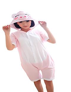 Kigurumi Pyjamas Grisunge/gris Kostume Rosa Bomull Cosplay Kostumer Kigurumi Trikot / Heldraktskostymer Cosplay Festival / høytid