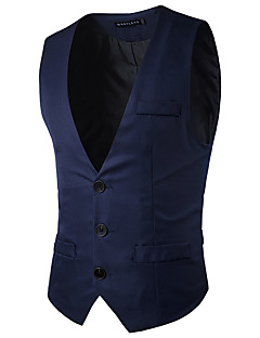 Festa de noivado algodão blend slim fit suit vest with pocket