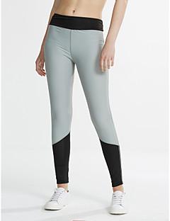 cheap -Women's Polyester Medium Solid Color Legging, Color Block Black Fuchsia
