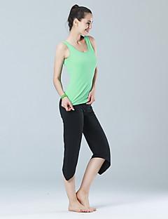 billige Løbetøj-Yoga & Dansesko Tøjsæt Høj Åndbarhed letvægtsmateriale Bekvem Elastisk Sportstøj Dame Yoga Pilates Træning & Fitness Fritidssport Løb