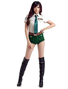 Soldat/Kriger Cosplay Kostumer Kvinnelig Halloween Karneval Festival / høytid Halloween-kostymer Grønn Mote