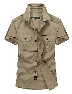 tanie Odzież turystyczna-Męskie Košile na turistiku Na wolnym powietrzu Oddychający T-shirt Topy Wędkarstwo