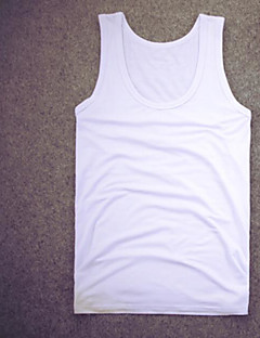 Men's Sports Casual/Daily Simple Summer Tank Top,Solid Halter Sleeveless Cotton