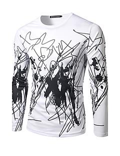 hesapli Grafik Tişörtler-Erkek Yuvarlak Yaka Desen Spor Tişört