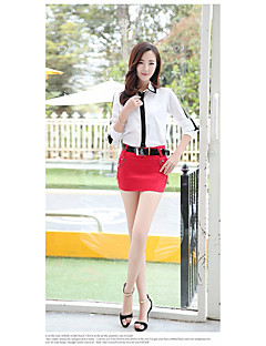Damen Sexy Mittlere Hüfthöhe Mini Röcke Bodycon einfarbig