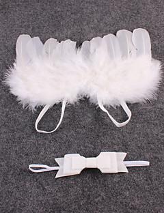 tanie Akcesoria dla dzieci-Komlety salik, czapka i rękawiczki - Dla obu płci - Na każdy sezon - Inne Organic Cotton Trykot - Opaski na głowę - Beige