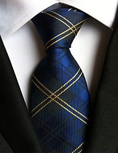 Men's Polyester Neck Tie,Vintage Party Work Casual Striped All Seasons