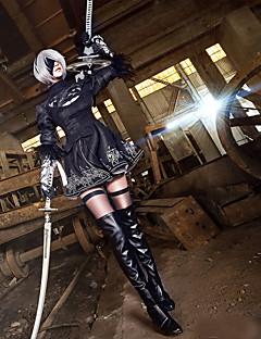 Innoittamana Cosplay Cosplay Anime Cosplay-asut Cosplay Puvut Patchwork Pitkähihainen Käyttötarkoitus Naiset Unisex