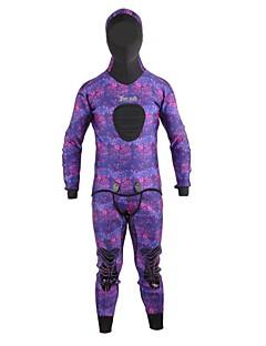 男女兼用 3mm ドライスーツ 保温 速乾性 高通気性 ネオプレン 潜水服 長袖 ダイビングスーツ-潜水 冬 秋 ファッション