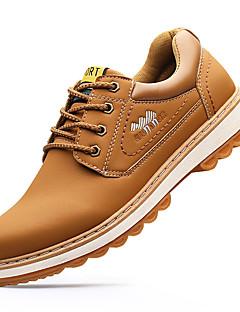 Erkek Çizmeler Biçimsel Ayakkabı Moda Botlar Tüylü Sonbahar Kış Günlük Biçimsel Ayakkabı Moda Botlar Siyah Kahverengi Düz