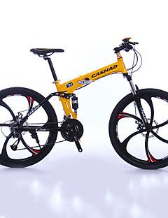 baratos Total Promoção Limpa Estoque-Bicicleta De Montanha / Bicicleta Dobrável Ciclismo 27 velocidade 26 polegadas / 700CC Shimano Freio a Disco Duplo Suspensão Garfo Dobrável Comum Alumínio