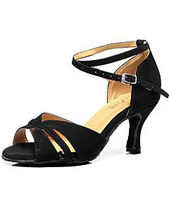 Damă Latin Îmbulzesc Sandale Începător Cataramă Toc Stilat Negru 7.5cm Personalizabili