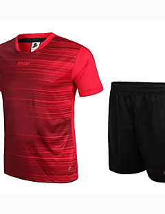Unissexo Futebol Conjuntos de Roupas/Ternos Respirável Vestível Confortável Primavera Verão Outono Cor Única FutebolVermelho Azul