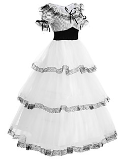 cheap Lolita Dresses-Sweet Lolita Dress Lolita Women's Outfits Cosplay White Puff/Balloon Short Sleeves