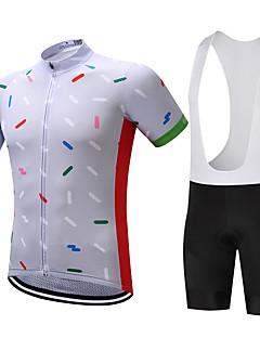 abordables -SUREA Maillot et Cuissard à Bretelles de Cyclisme Homme Manches Courtes Vélo Ensemble de Vêtements Séchage rapide Respirable Compression