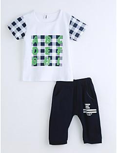 Jungen Sets Geometrisch Baumwolle Sommer Kurzarm Kleidungs Set