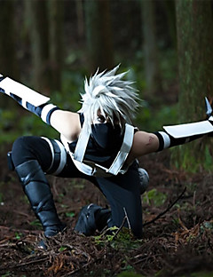 Inspired by Naruto Hatake Kakashi Anime Cosplay Costumes Cosplay Suits Patchwork Sleeveless Vest Pants Sleeves Gloves T-shirt ForMale