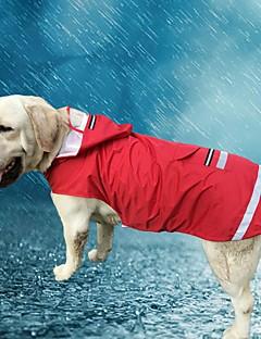お買い得  犬用ウェア-ネコ 犬 パーカー レインコート 犬用ウェア カジュアル/普段着 防水 純色 レッド ブルー