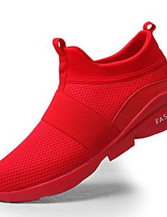 hesapli -Erkek Ayakkabı Kauçuk Bahar Sonbahar Rahat Atletik Ayakkabılar için Beyaz Siyah Gri Kırmzı