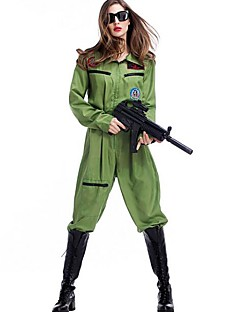 billige Halloweenkostymer-Soldier Cosplay Kostumer Dame Halloween Karneval Nytt År Festival / høytid Halloween-kostymer Lapper Dresser