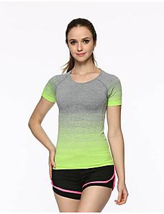 tanie Odzież turystyczna-Damskie Tričko na turistiku Na wolnym powietrzu Siłownia, bieganie i joga Quick Dry T-shirt Topy Bieganie