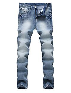 billige Herremote og klær-Herre Punk & Gotisk Store størrelser Rett Tynn Jeans Bukser Ensfarget