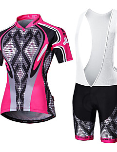 a6fb524b8 Malciklo Men s Women s Short Sleeve Cycling Jersey with Bib Shorts - White  Black Argyle Plus Size Bike Clothing Suit Breathable 3D Pad Quick Dry Back  Pocket ...