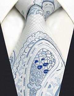 עניבת צווארון פייזלי כל העונות וינטאג' חמוד מסיבה עבודה יום יומי גברים