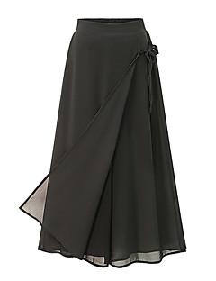 baratos Calças Femininas-Mulheres Moda de Rua Tamanhos Grandes Cintura Alta Solto / Culotte / Largo Calças - Sólido Laço