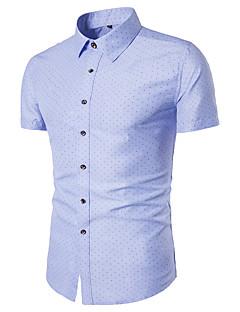billige Herre Toppe-Spredt krave Tynd Herre - Ensfarvet Basale Skjorte / Kortærmet