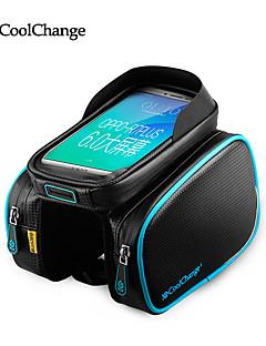 billiga Cykling-CoolChange Mobilväska 5.7 tum Pekskärm Cykelsport för Samsung Galaxy S6 / iPhone 5C / iPhone 4/4S Blå och Svart / iPhone 8/7/6S/6 / iPhone 8 Plus / 7 Plus / 6S Plus / 6 Plus