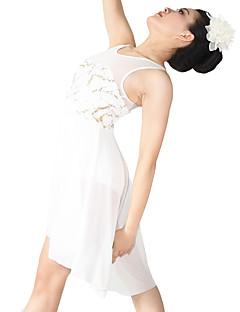 Μπαλέτο Φορέματα Γυναικεία Παιδικό Επίδοση Σπαντέξ Πολυεστέρας Με Πούλιες Πούλιες Ντραπέ Πλισέ 2 Κομμάτια Αμάνικο ΦυσικόΦόρεμα Αξεσουάρ