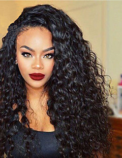 cheap Wigs & Hair Pieces-Synthetic Lace Front Wig Curly Layered Haircut 180% Density Synthetic Hair 20-26 inch Heat Resistant / Natural Hairline Natural Black Wig Women's Long Lace Front Dark Black