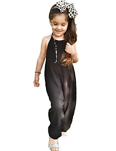Baby Girls' Solid Polka Dot Overall & Tie  Jumpsuit-Cotton Summer