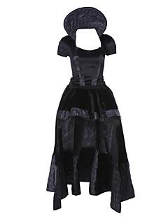 billige Voksenkostymer-Queen Cosplay Kostumer Party-kostyme Dame Jul Halloween Karneval Festival / høytid Halloween-kostymer Svart Vintage