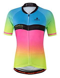Miloto Cycling Jersey Women's Short Sleeves Bike Jersey Top Fast Dry Stretchy Sweat-Wicking Spandex Coolmax Spring/Fall Summer Cycling