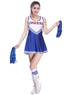 Shall We Cheerleader Costumes Dresses Women's Performance Polyester / Milk Fiber Splicing